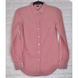 THEORY LONG SLEEVE BUTTON DOWN BLOUSE SIZE S